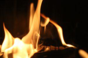 Heizkamin Feuer